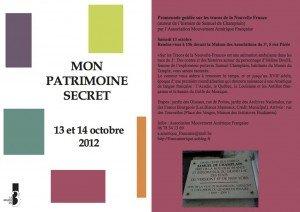 Notre Patrimoine secret au Mouvement Amérique Française 3e Arrondissement dans Actualités PATRIMOINE-300x212