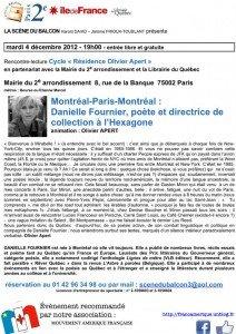 Fin d'année de Montréal à Paris : le MAF rencontre Danielle Fournier, écrivaine québécoise pub-copie-copie-212x300