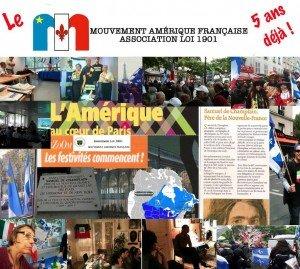 Le Mouvement Amérique Française 5 ans Déjà  maf_5e_anniversaire-300x269