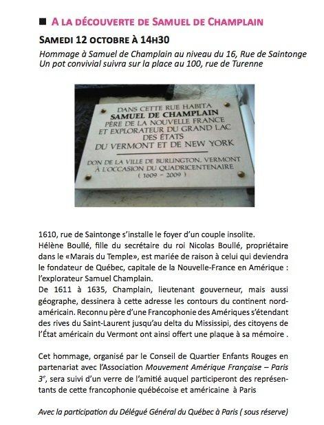 A la découverte de Samuel de Champlain : Le samedi 12 octobre à 14h30  invit_champlain_paris_3